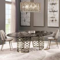 Tavolo moderno / in metallo / in marmo / ovale