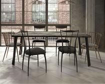 Tavolo da pranzo moderno / in legno laccato / in acciaio / in ferro