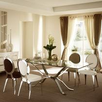 Tavolo moderno / in vetro / in ferro / rettangolare