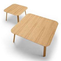 Tavolino basso moderno / in quercia / in noce / in MDF
