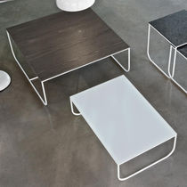 tavolo d'appoggio / moderno / in metallo / in legno laccato ... - Tavolino Acciaio Laccato Ginger Bontempi