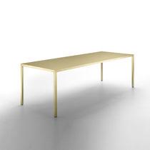 Tavolo da riunione moderno / in ottone / rettangolare / quadrato