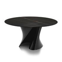 Tavolo moderno / in marmo / in Cristalplant® / rotondo