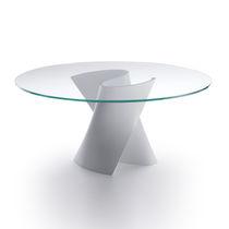 Tavolo moderno / in Cristalplant® / in composito / rotondo