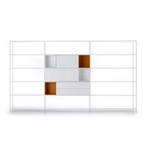 Scaffale a muro / modulabile / basso / ad angolo