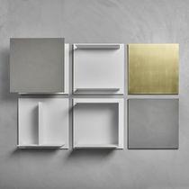 Scaffale a muro / moderno / in legno / in metallo laccato