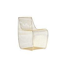 Sedia moderna / con cuscino rimovibile / in acciaio / in filo metallico