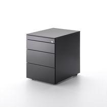 Cassettiera per ufficio in metallo / 3 cassetti / con rotelle / a chiave