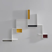 Scaffale a muro / modulabile / moderno / in lamiera d'acciaio