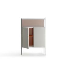Credenza alta / moderna / in vetro / in alluminio