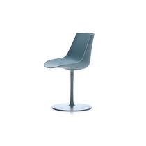 Sedia moderna / girevole / con base centrale / in alluminio verniciato