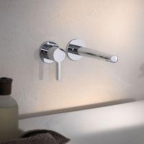 Miscelatore per lavabo / da incasso / in metallo cromato / da bagno