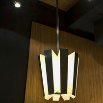 Lampada a sospensione / moderna / in ottone / in pelle