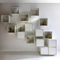 Scaffale a muro / moderno / in legno / con contenitore