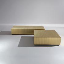 Tavolino basso moderno / in acciaio / in rame / in ottone