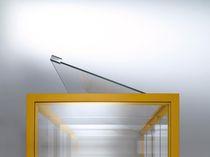 Vetrina moderna / con piedi alti / in vetro / in acciaio