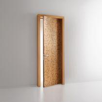 Porta da interni / battente / in legno / per edifici pubblici