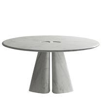 Tavolo moderno / in marmo / rotondo