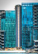 Pannello in vetro laminato / a doppi vetri / per facciata / trasparente