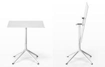 Tavolo da bistrot moderno / in alluminio / rettangolare / rotondo