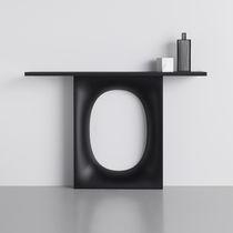 Consolle design originale / in vetro / in metallo / rettangolare