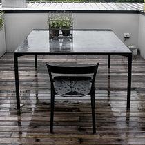 Tavolo moderno / in legno / in calcestruzzo / rettangolare