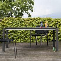 Tavolo moderno / in acciaio inossidabile / in laminato / rettangolare