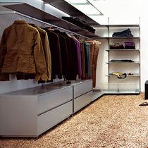 Cabina armadio da parete / moderna / in legno / su misura