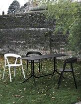 Tavolo moderno / in alluminio / quadrato / pieghevole