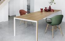 Tavolo moderno / in legno / in vetro / in alluminio