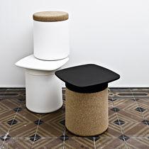 Tavolo d'appoggio moderno / in plastica / quadrato / da giardino