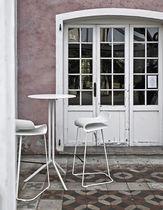 Tavolo alto moderno / in laminato / rotondo / da esterno