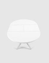 Tavolo moderno / in MDF / in alluminio / rotondo