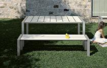 Panca da giardino / moderna / in metallo