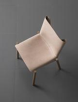 Sedia moderna / in metallo / in legno / in pelle