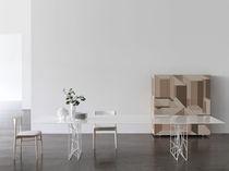 Tavolo moderno / in vetro / in quercia / in eucalipto