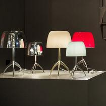Lampada da tavolo / moderna / in alluminio / in vetro soffiato