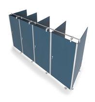 Cabina WC per bagno pubblico / per spazi pubblici / in vetro
