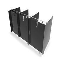 Box doccia in vetro / per bagno pubblico / rettangolare / con sportello battente