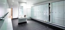 Armadietto spogliatoio in vetro / per edifici pubblici / per impianto sportivo