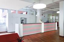 Banco reception in legno / luminoso