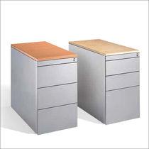 Cassettiera per ufficio in acciaio / in legno / 3 cassetti / 2 cassetti