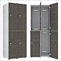 Armadietto spogliatoio in melamminico / standard / per edifici pubblici / per ambienti umidi