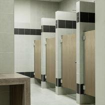 Box doccia in HPL / per bagno pubblico / rettangolare / con sportello battente