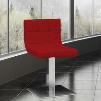 Sedia visitatore moderna / imbottita / girevole / con base centrale