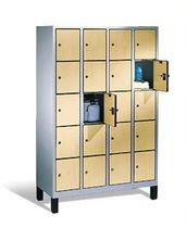 Armadietto spogliatoio metallo / standard / per edifici pubblici / con sistema di sicurezza