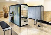Armadietto spogliatoio in vetro / standard / per edifici pubblici / con sistema di sicurezza