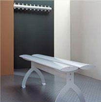 Panca per spogliatoio / classica / in alluminio