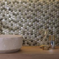 Mosaico da interno / da parete / in metallo / opaco