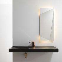 Specchio a muro / moderno / rettangolare / luminoso a LED